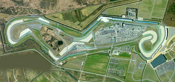 Il TT Circuit Assen visto dall'alto.