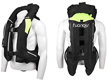 Gilet airbag moto Protezione per schiena, petto, collo e coccige con bombola di CO2
