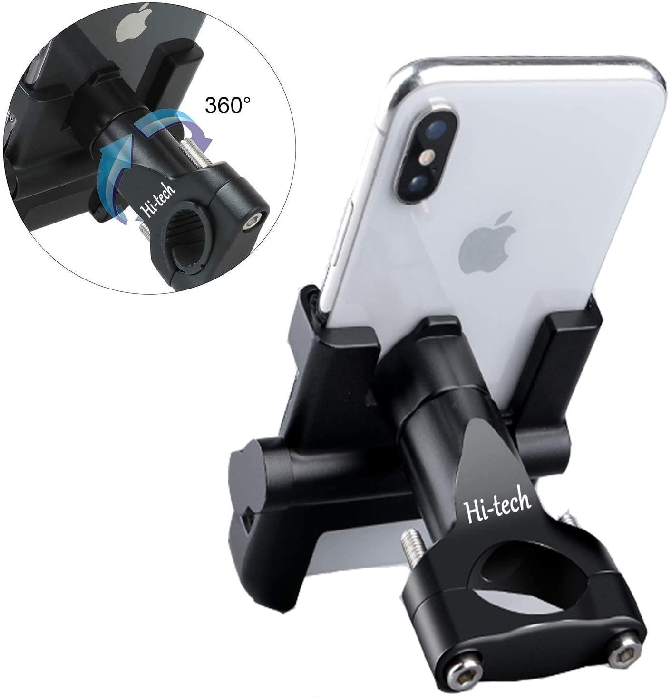 Supporto per Telefono Bici Moto Smartphone Supporto del Smartphone Manubrio per Smartphone GPS in Lega di Alluminio