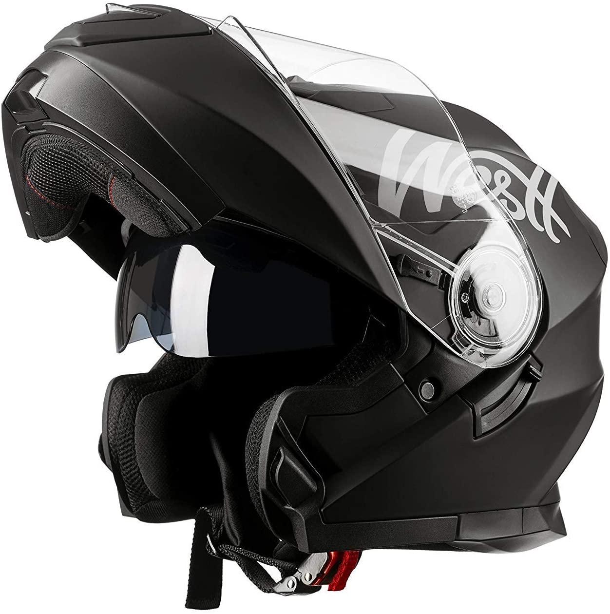 Westt Torque X · Casco Modulare Moto Nero Opaco Doppia Visiera Scooter Motorino