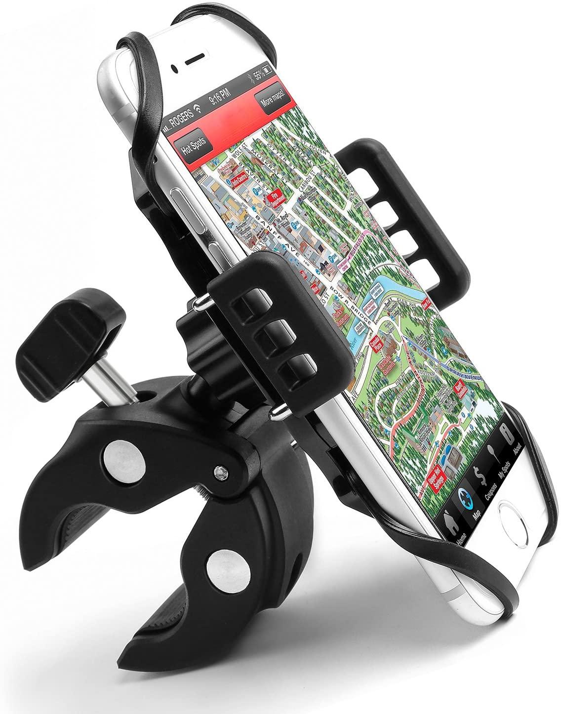 porta Cellulare per Moto Bici Scooter MTB, Ruotabile 360°, per Telefono Smartphone entro 6 Pollici