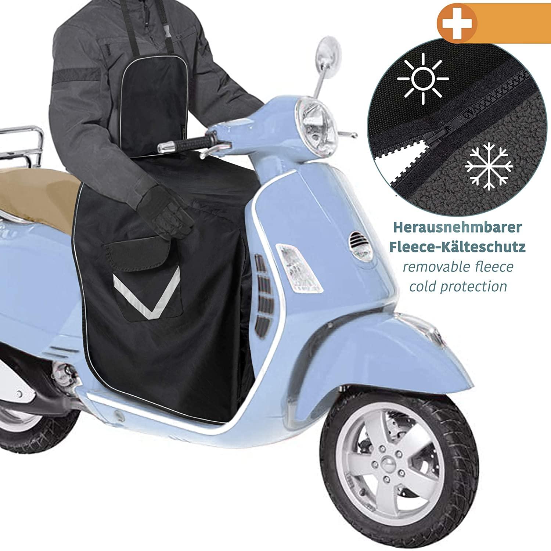 Coprigambe scooter universale - Copertura prottetiva per moto - Parabrezza per tutti gli scooter - Misura universale