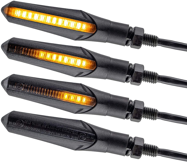 Indicatori di Direzione a LED Mini Frecce Moto Universali Indicatori Di Direzione a Scorrimento