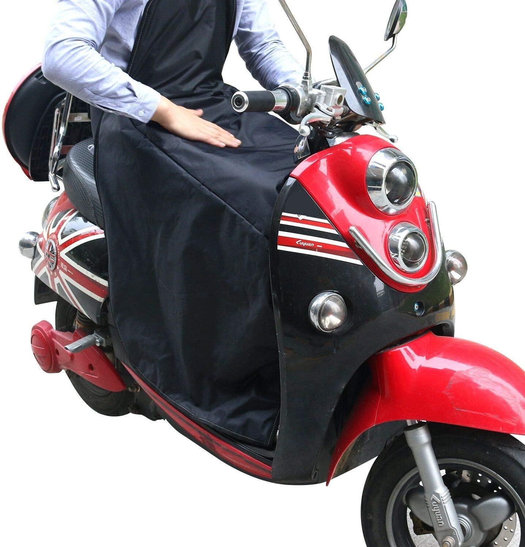 KINDAX Coprigambe Scooter Universale Impermeabile alla Pioggia, Antifreddo e Tiene Caldo, Coperta per Proteggere Gambe dal Freddo per Scooter