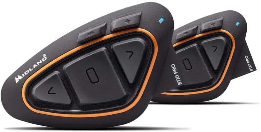 Midland BTX1 PRO Twin Interfono Moto Bluetooth Coppia, Auricolari Casco con Cancellazione del Rumore
